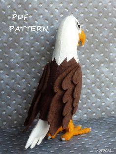 PDF pattern to make a felt eagle. by Kosucas on Etsy