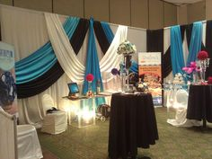 Draping fabric for a Wedding Show Booth Design