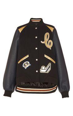 Metallic Insert Oversized Varsity Jacket by COACH 1941 for Preorder on Moda Operandi