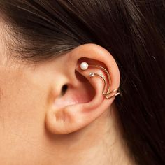 Amorium: Trendy Jewelry that Lasts in Style & Durability Rose Gold Ear Cuff… Free shipping and returns over $50 #jewerly #earcuffs #rosegold