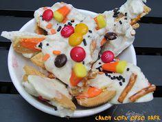 Candy Corn Oreo Bark Halloween Snacks