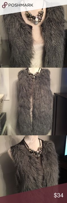 🆕 Design History faux feather fur vest Like new! Worn once - see pic for material composition. Design History Jackets & Coats Vests