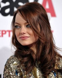 Image result for HOW TO GET AUBURN HAIR FROM DARK BROWN