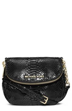 MICHAEL Michael Kors  Bedford  Python Embossed Leather Crossbody Bag  available at  Nordstrom Cheap 2cd5f0c0a7915