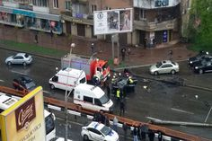 Утреннее ДТП, в котором уничтожили BMW 5GT, парализовало движение в столице