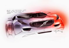 Volvo Concept Design Sketch by Pedro Guarinon