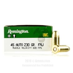 Remington 45 Auto Ammo - 500 Rounds of 230 Grain MC Ammunition #45ACP #45ACPAmmo #Remington #RemingtonAmmo #Remington45ACP #MCAmmunition