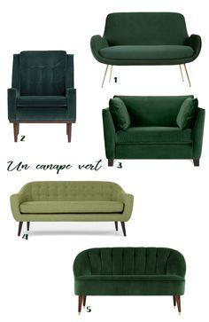 canapé vert made.com