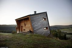 Flip this house: This cabin in Oberweisenthal, Germany, is built into the side of a hill in a way that really makes it stand out