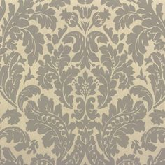 Rasch Barock Tapete 545630 Barock grau-beige metallic