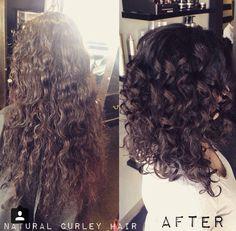 Curly haircut Aline