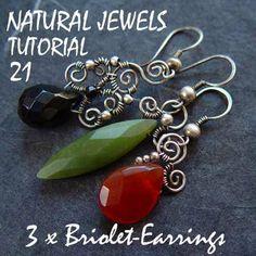 Tutorial 21 three pairs of Briolette Earrings by NaturalJewels, €8.00