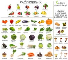 Październik kojarzy nam się ze zmianą pogody i złotymi liśćmi w parku, tym czasem jesień to sezon zbiorów wielu warzyw. Ostatnia chwila by cieszyć się pomidorami i papryką. Zupy kremy z kabaczka i dyni to świetny pomysł na obiad lub nawet lekką kolacje. Sałata i inne rośliny liściastenadal dostępne, brokuły i Diet Recipes, Vegan Recipes, Smoothie Diet, Healthy Tips, Healthy Food, Herbalism, Healthy Lifestyle, Clean Eating, Good Food