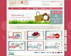 Magento ecommerce website designed and built for online craft retailer Seek It Out