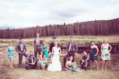 artsy bridal party photo :  wedding colorado weddings green mountain weddings rustic wedding snow mountain ranch vogue style photoshoot Bridal Party