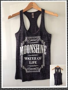 Burnout Razor Tank Moonshine by CustomTsCorp on Etsy