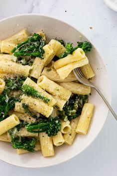20-min Broccoli Pasta al Limone. #rigatoni #dinner