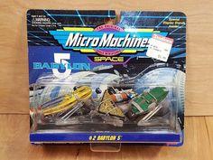MICRO MACHINES BABYLON 5 # 2 ~ 1994 Vorlon Cruiser Narn Transport Raider Ship #Galoob #micro #machines #babylon5 #babylon #action #figure #space