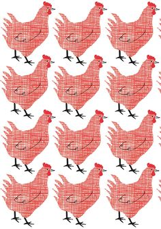Checkered Hen pattern by Textiles, Textile Patterns, Cool Patterns, Print Patterns, Pattern Art, Surface Pattern, Pattern Design, Surface Design, Chicken Art