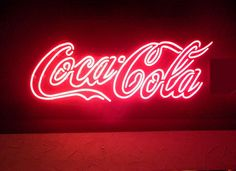 Coca cola neon sign by Rainbow Aesthetic, Aesthetic Colors, Aesthetic Vintage, Aesthetic Pictures, 80s Aesthetic, Aesthetic Bedroom, Aesthetic Photo, Sign Lighting, It Goes On