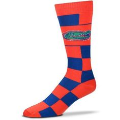 For Bare Feet University of Florida Jumbo Check Thin Knee High Dress Socks (Blue, Size One Size) - NCAA Licensed Product, NCAA Novelty at Academy S...