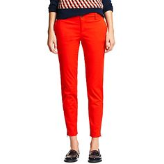 Tommy Hilfiger women's pant. Say hello to your new favorite pants featuring a flattering cropped fit and zippers at the ankles. Our designers added a hint of stretch so they hug your curves beautifully. <br/>• Sits lower on the waist, fitted through the hip and thigh.<br/>• Trouser styling, ankle zips.<br/>• 97% cotton, 3% elastane.<br/>• Machine washable.<br/>• Imported.<br/><br/>