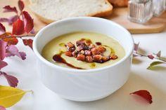 Dieses Rezept für eine cremige Herbstsuppe mit Speckwürfeli ist einfach zubereitet und schmeckt nach Steinpilze ohne diese aber zu verwenden.