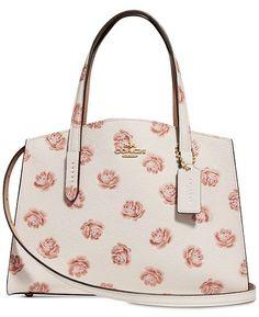b15bcc8f2af COACH Rose Print Charlie 28 Small Satchel   Reviews - Handbags   Accessories  - Macy s