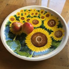 This hand painted grand platter is a functional piece of art as it is food safe ceramic. Platter, Serving Bowls, Vibrant, Hand Painted, Sea, Handmade Gifts, Tableware, Painting, Etsy