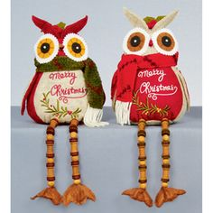 christmas decorations premier 30cm button leg plush owls 2 assorted pl136231 christmas bird christmas lights
