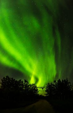 Aurora Borealis ~ God reached down his hand, in this household band...