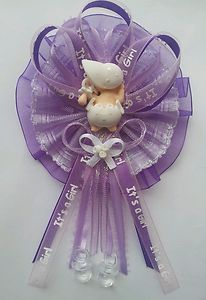 Purple and Lavender Mommy Baby Shower Favor Capia Corsage   eBay