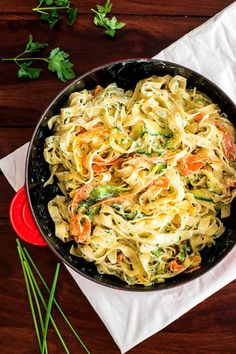 Fettuccine with Lemon Ricotta and Zucchini