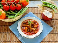 Рецепт салата из стручковой фасоли на зиму