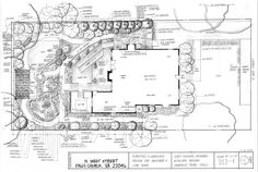 Landscapedesignplanexample Jpg 815 548 Pixels Plot Plan Drawing Landscape Design Plans