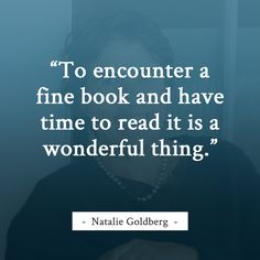 Natalie Goldberg reading quote