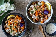 Quick Harissa Lentils with Roast Squash and Tahini Dressing 17 Quick And Easy Vegan Dinners That'll Fill You Up Healthy Work Snacks, Healthy Cooking, Healthy Meals, Healthy Food, Healthy Recipes, Jackfruit Recipes, Easy Vegan Dinner, Vegan Dinners, Vegetarian Recipes