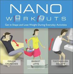 Compact exercise options for the dorm room include the 'Nano Workouts' book and Gym in a Box.   #fitness #health #weightloss