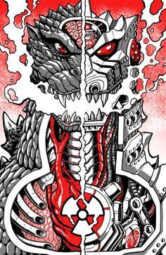 Image result for godzilla art