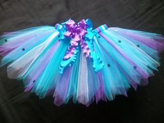This listing is for a custom made tutu inspired by Disneys The Little Mermaid. This tutu is made from teal, turqoise, shimmery purple, and shimmery Little Mermaid Birthday, Little Mermaid Parties, The Little Mermaid, Frozen Birthday, 3rd Birthday Parties, Girl Birthday, Birthday Ideas, Birthday Tutu, Tutu En Tulle