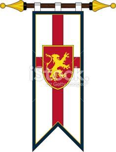 Medieval Crusader Knights Banner Flag stock vector art 19867897 ...