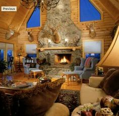 Log Homes, Living Room, Closet, Home Decor, House, Timber Homes, Armoire, Decoration Home, Room Decor