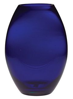 Glass Majestic Gifts European Handmade Barrel Vase, X-Large, Cobalt Blue. Available in and Hand made and Mouth Blown. Manufactured exclusively in Europe. Round Glass Vase, Blue Glass Vase, Cobalt Glass, Cobalt Blue, Blue Yellow, Color Blue, Big Vases, Gold Vases, White Vases
