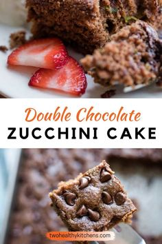 This Double Chocolate Zucchini Cake is a chocolate lover's dream! Incredibly moist with a deep, rich chocolate flavor. And surprise … it's so much healthier, too! All the chocolate cake joy you crave…