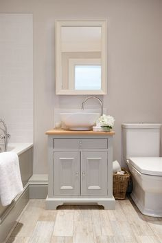 Neptune Bathroom Washstands - Chichester 640mm Oak Countertop Washstand