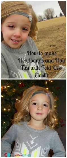 How To Make Headbands and Hair Ties with Fold Over Elastic - The Ribbon Retreat Blog