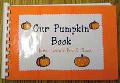 Pumpkin Book -as well as other class book ideas