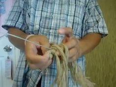 how to make chinese dragon with rope.การทำมังกรจีนด้วยเชือกปอป่าน part 1