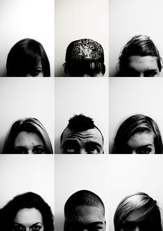 Forehead Typology >> another photoshoot idea, you could write different thoughts or comments above their heads to make it more fun.