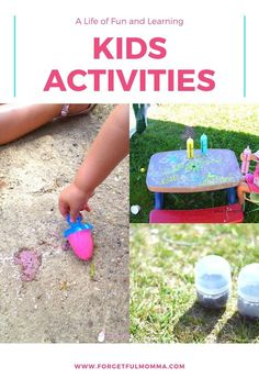 Kids have active imaginations, active minds, and very active bodies. Here are ways to keep that going! #kidsactivities #kidsfun #forgetfulmomma Father's Day Activities, Preschool Learning Activities, Mindfulness Activities, Preschool Crafts, Teaching Kids, Kids Learning, Step Kids, Raising Kids, Kids And Parenting